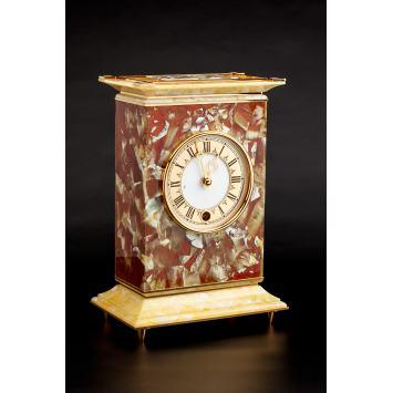 Handmade Baltic Amber encrusted standalone clock