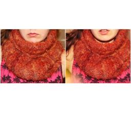 """Knitted scarf from wool and mohair ,,MOVAS"""""""