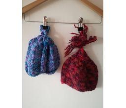 Handmade knitted hats for children