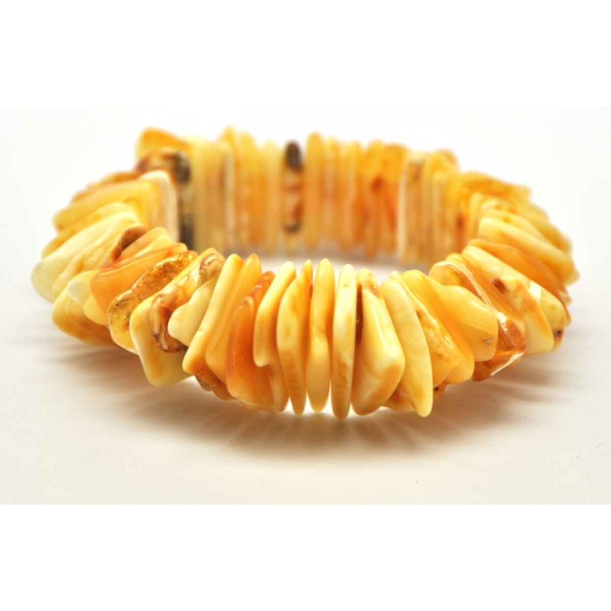Butterscotch Baltic amber elastic bracelet