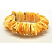 Butterscotch Baltic amber elastic bracelet
