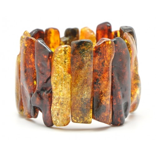Natural shapes massive Baltic amber bracelet