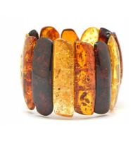 Massive Baltic amber multicolor bracelet