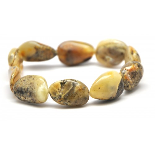 Genuine Baltic amber big beads bracelet