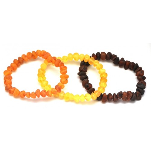 3 Raw baroque beads Baltic amber bracelets