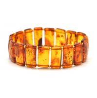 Cognac Baltic amber  elastic bracelets