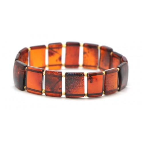 Cherry Baltic amber  elastic bracelets