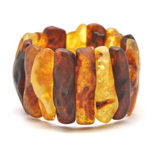 Natural shapes unpolished Baltic amber bracelet