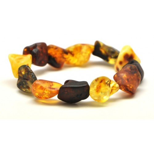 Natural shapes unpolished  Baltic amber  bracelet