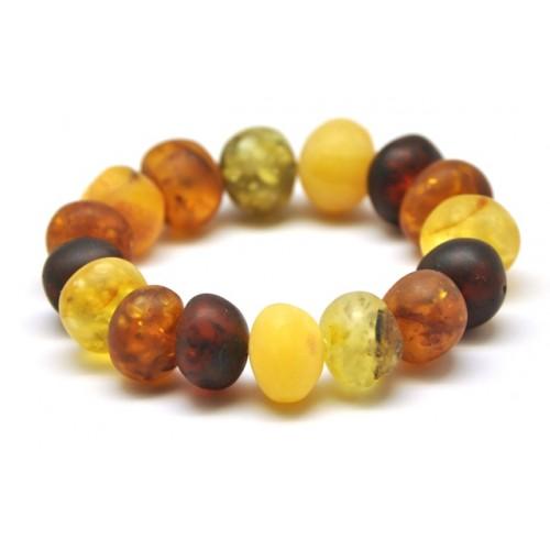 Unpolished baroque beads Baltic amber bracelet