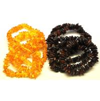 10  Baltic amber chip bracelets