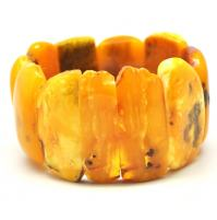 Real antique Baltic amber bracelet 70 gr.