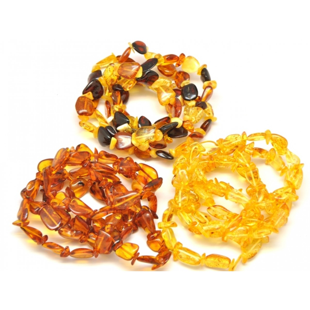 15 Beans and nuggets Baltic amber bracelets