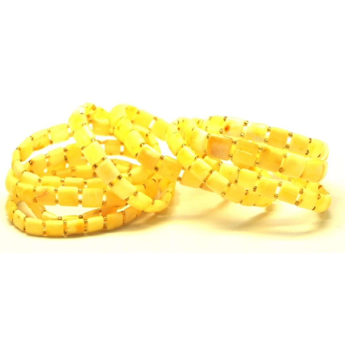 10 Yellow color Baltic amber bracelets