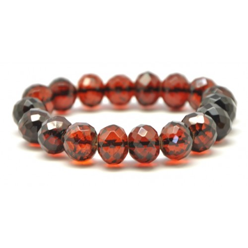 Faceted baroque beads Baltic amber  bracelet