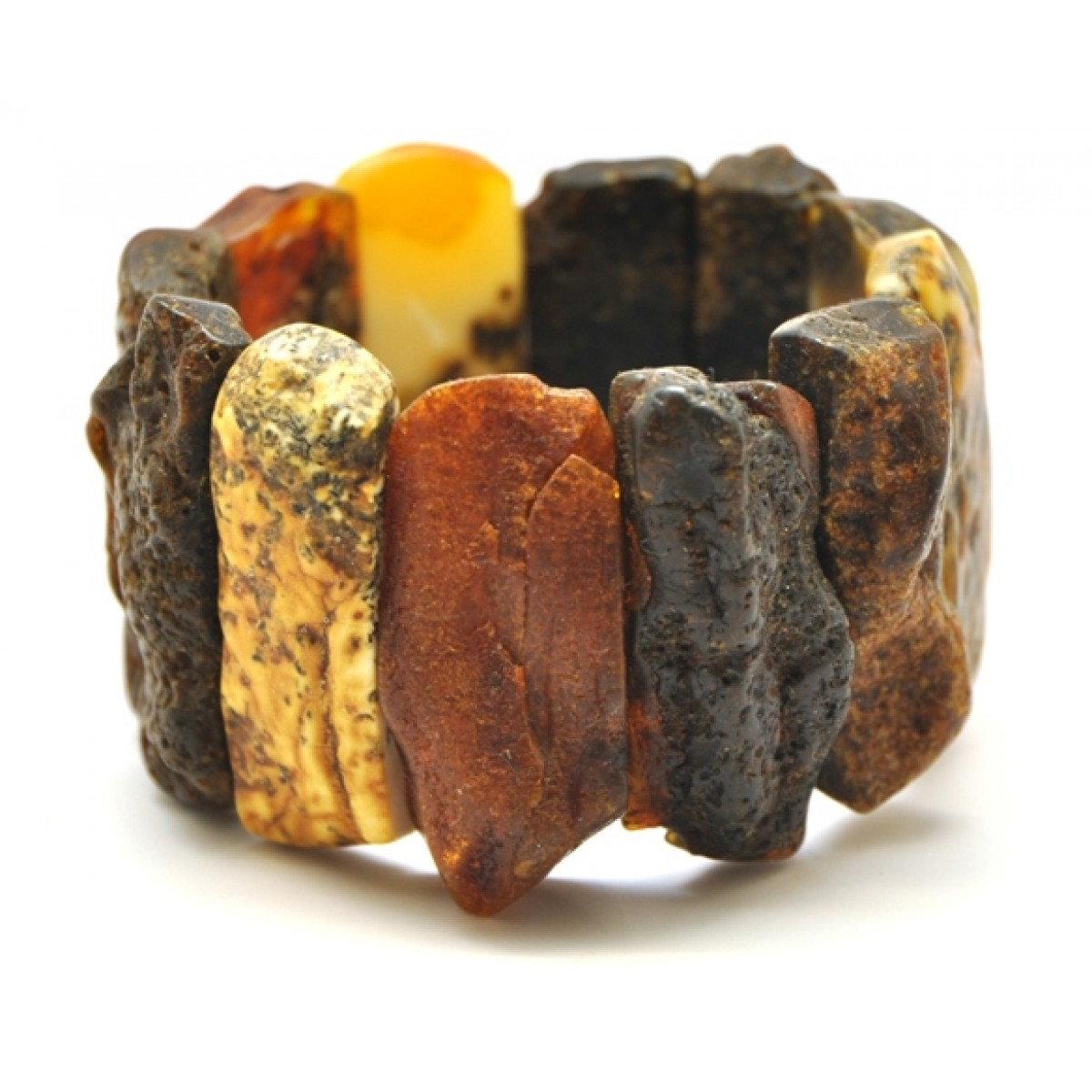Natural shapes healing Baltic amber bracelet