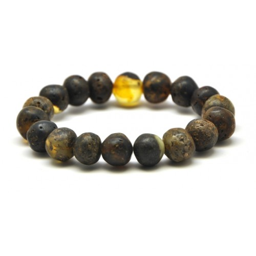 Raw healing baroque beads Baltic amber bracelet