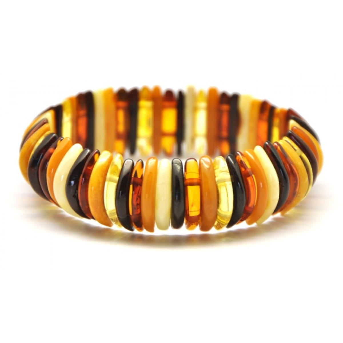 Baltic amber multicolor bracelet