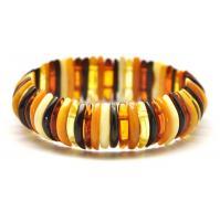 Baltic amber multicolor bracelet