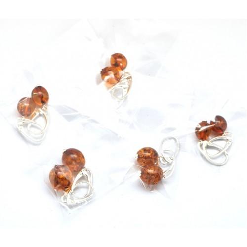 Lot of 5 olive shape Baltic amber earrings