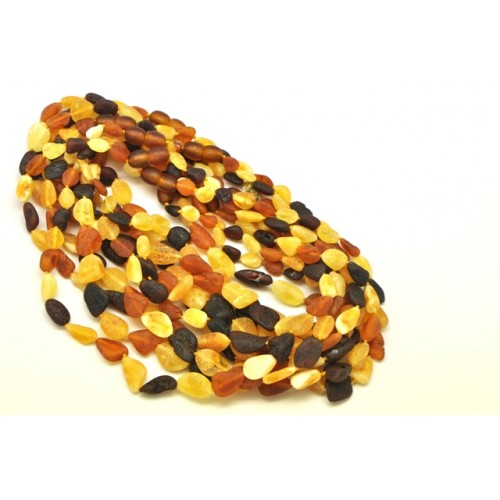 10 Raw unpolished Baltic amber beans teething necklaces