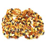 20 Beans shape Baltic amber teething necklaces