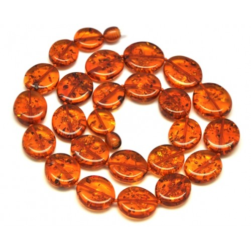 Cognac color  Baltic amber short necklace