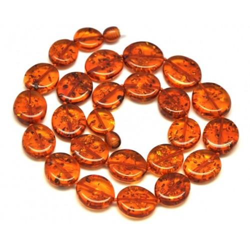 Cognac color  Baltic amber short necklace
