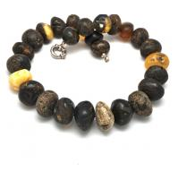 Massive raw baroque beads Baltic amber necklace