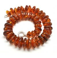 Massive cognac Baltic amber short necklace