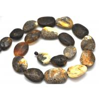 Big beads healing Baltic amber long necklace