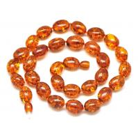 Cognac olive shape Baltic amber necklace