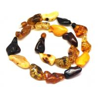 Natural shapes  Baltic amber necklace