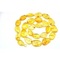 Big beads lemon Baltic amber long necklace