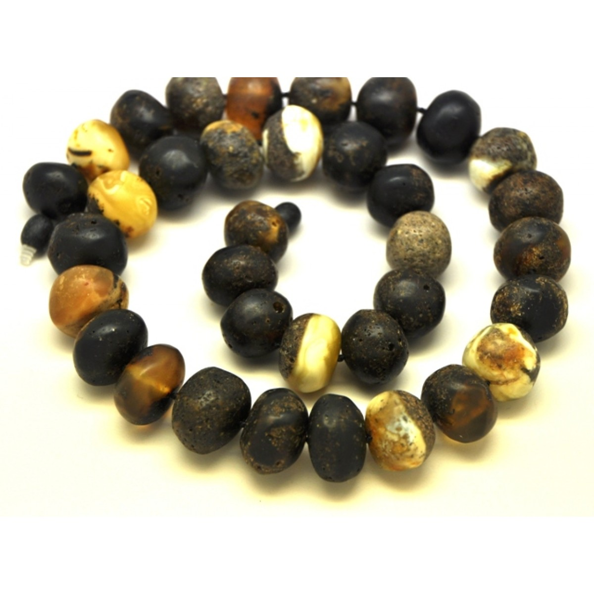 Raw healing baroque beads Baltic amber necklace