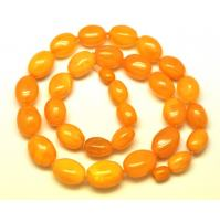 Olive shape antique Baltic amber  necklace