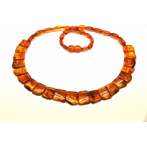 Cognac color Baltic amber choker 18,5 inch