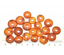 20 unpolished cognac Baltic amber amulet pendants