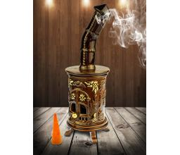 Ceramic stove - incense burner #SK30G Brown