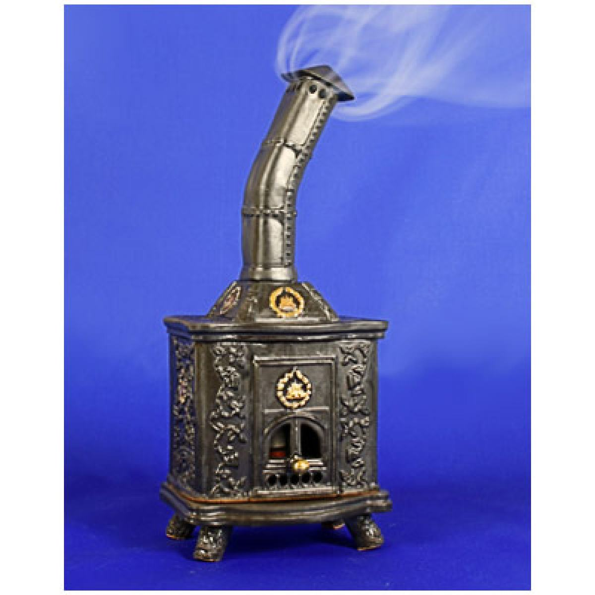 Ceramic stove incense burner SK32G Black 12 60€ Crafts Made in Lithuania