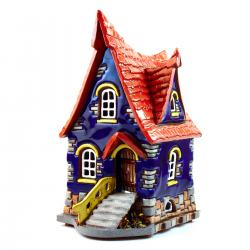 Hand made ceramic candle house #003