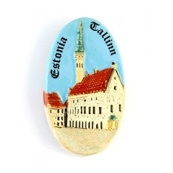 Hand made ceramic magnet - Tallinn #MS83