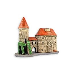 Hand made ceramic candle house #500