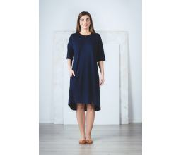 Asymmetric Hem Dress with Pockets