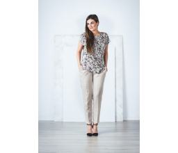 Back Bow Nature Print Blouse
