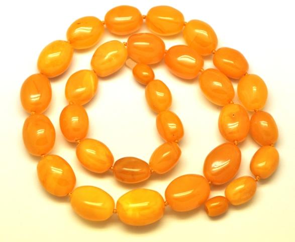 Amazing faceted olive shape baltic amber necklace 34095 fine olive shape antique baltic amber necklace aloadofball Images